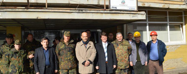 Delegacioni i lartë i KFOR-it Gjerman viziton KEK-un