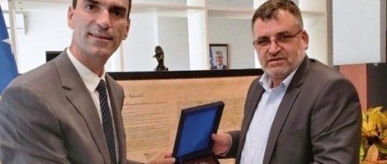 Kryeshefi Ekzekutiv (u.d), z. Luigj Imeri vizitoi ministrin e MEA z. Blerim Kuqi